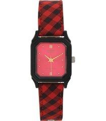 reloj casio analogo rojo mujer