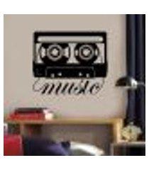 adesivo de parede fita music - es 98x115cm