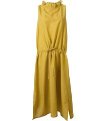 atlantique ascoli drawstring shift dress - yellow