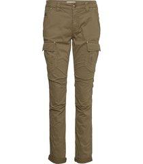 cheryl cargo reunion pant pantalon met rechte pijpen groen mos mosh