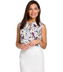blouse moe m438 mini jurk met ruche zoom - poeder