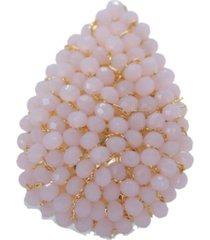 anillo gota baño en oro rosa bijulovers