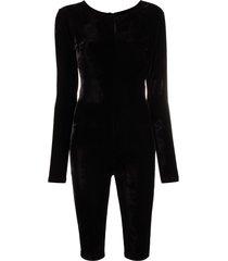 alchemy fitted velvet jumpsuit - black