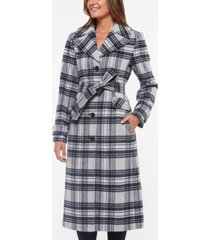 kate spade new york plaid belted coat