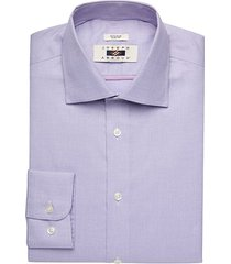 joseph abboud men's purple woven stripe slim fit dress shirt - size: 17 32/33