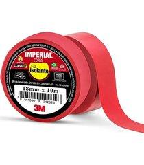 fita isolante imperial vermelha 18mmx10m - 3m - 3m