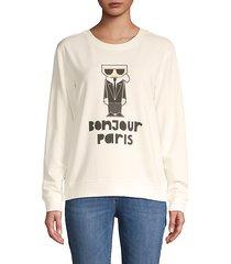 bonjour graphic sweatshirt