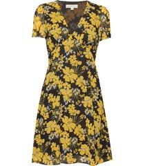high waist vneck drs korte jurk geel michael kors
