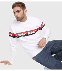 buzo blanco-azul-rojo tommy jeans