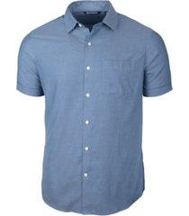 cutter & buck men's windward twill short sleeve shirt