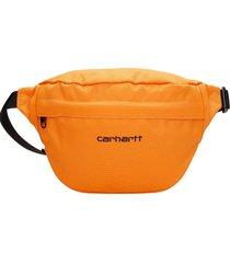 carhartt waist bag in orange synthetic fibers