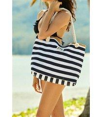 torba plażowa feliss 51x33cm 38131-99x biało-czarny
