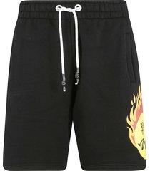 palm angels burning head sweat shorts