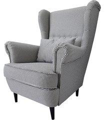 fotel uszak w tkaninie kenia