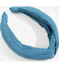 abby top knot headband - blue