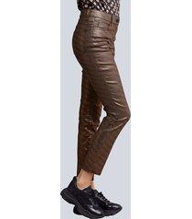 jeans alba moda zwart::koperkleur