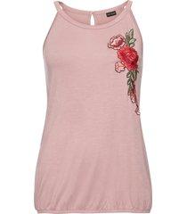 top con ricamo (rosa) - bodyflirt