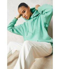 basic oversized hoodie, green