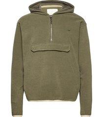 edgar fleece jacket hoodie grön fram