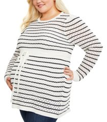 motherhood maternity plus size babydoll sweater