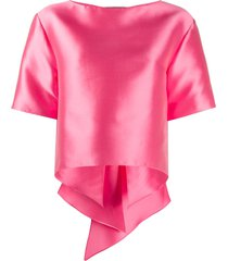 alberta ferretti oversized bow detailed t-shirt - pink