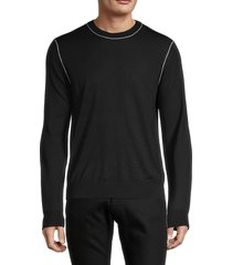helmut lang men's wool sweatshirt - black - size m