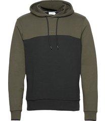 color block hoodie hoodie trui groen calvin klein