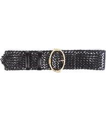 prada woven leather belt