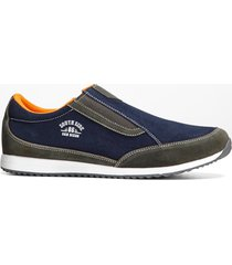 slip on in pelle (blu) - bpc bonprix collection