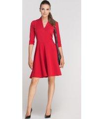 sukienka rozkloszowana, suk147 czerwony