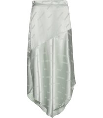 asymmetric skirt knälång kjol grön coster copenhagen