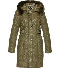 cappotto corto trapuntato in similpelle (verde) - bpc selection premium