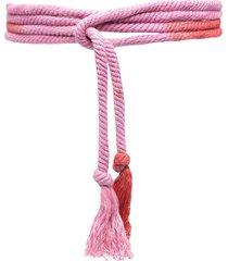 isabel marant wraparound tassel-detail belt - red