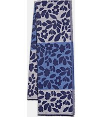 bufanda con rayas y flores azul marino esprit
