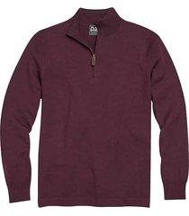jos. a. bank traveler men's purple wine modern fit 1/2 zip mock neck sweater - size: 3xlt