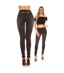 sexy hoge taille jeans met strass steentjes jeanszwart