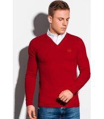 ombre sweater v-hals vaste overhemd boord - e120