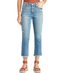 women's sam edelman the stiletto distressed fray hem crop bootcut jeans