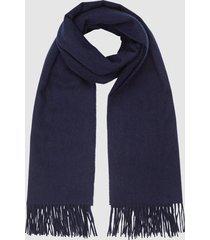 reiss jen - wool cashmere blend oversized scarf in navy, womens