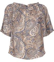 ashley paisley blouse blouses short-sleeved multi/patroon mos mosh