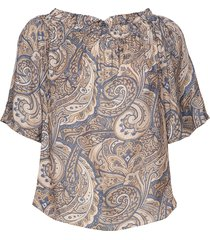 ashley paisley blouse blouses short-sleeved multi/patroon mos mosh