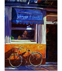 """david lloyd glover the red bicycle canvas art - 20"""" x 25"""""""