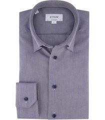eton contemporary fit shirt blauw structuur