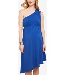 jessica simpson maternity one-shoulder a-line dress