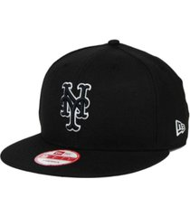new era new york mets black white 9fifty snapback cap