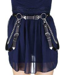 decorative chain pu gothic belt
