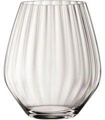 conjunto de 4 copos baixos de cristal para gin tônica 625ml spiegelau