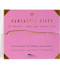 lucky feather fantastic 50 bracelet - wine