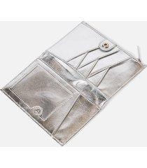 ted baker women's jaya poppered purse - silver