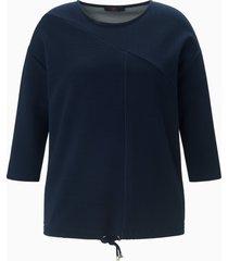sweatshirt 3/4-mouwen van emilia lay blauw